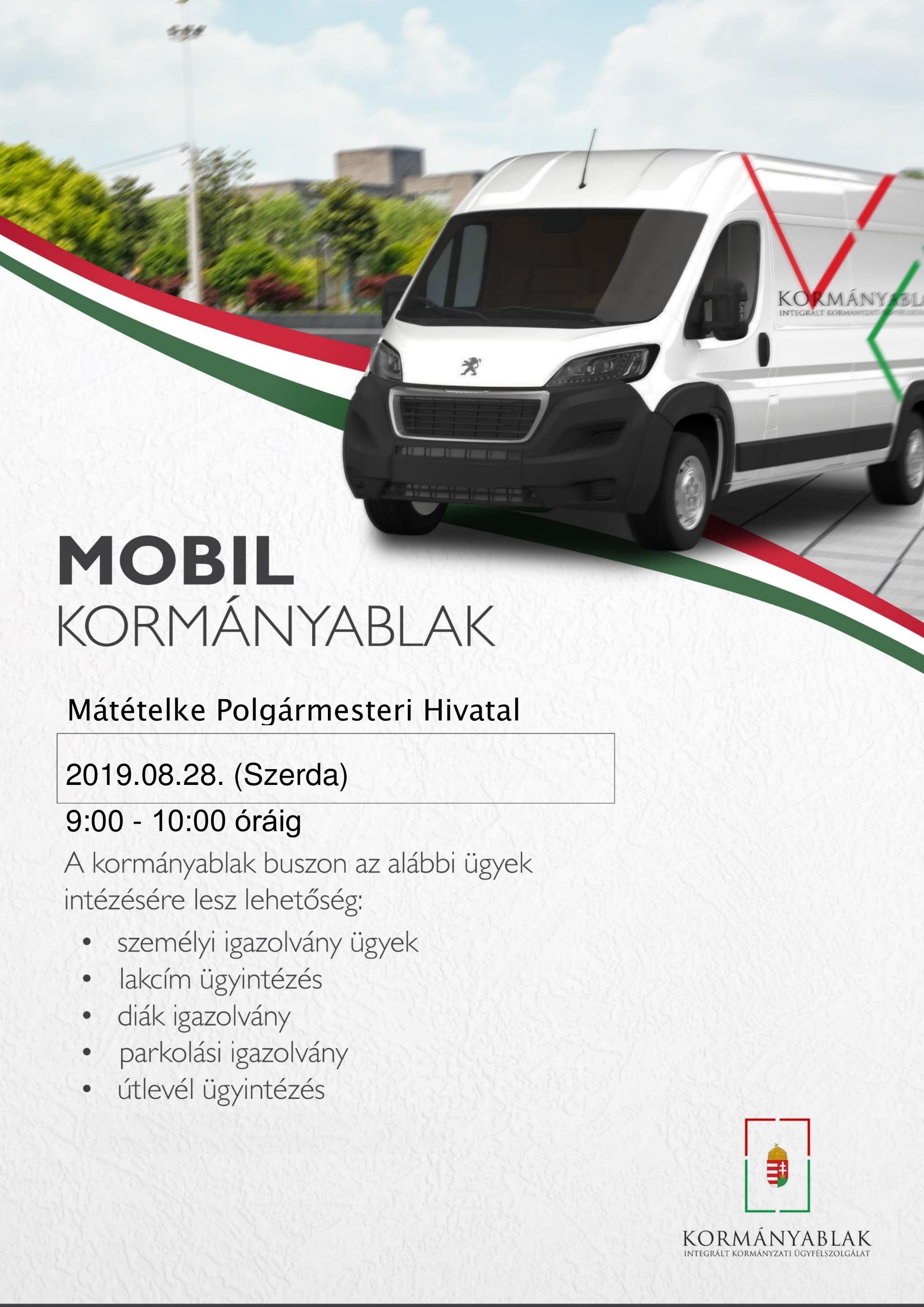 Bácsalmás Kormányablak busz plakát - Mátételke-1