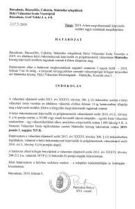 Határozat a 2019-ben megválasztható képviselők számáról