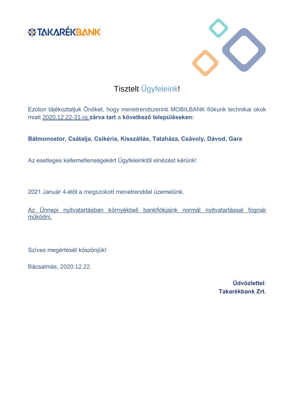 Közlemény rendkívüli technikai zárvatartás miatt_Mobilbusz 2020 12 22-1