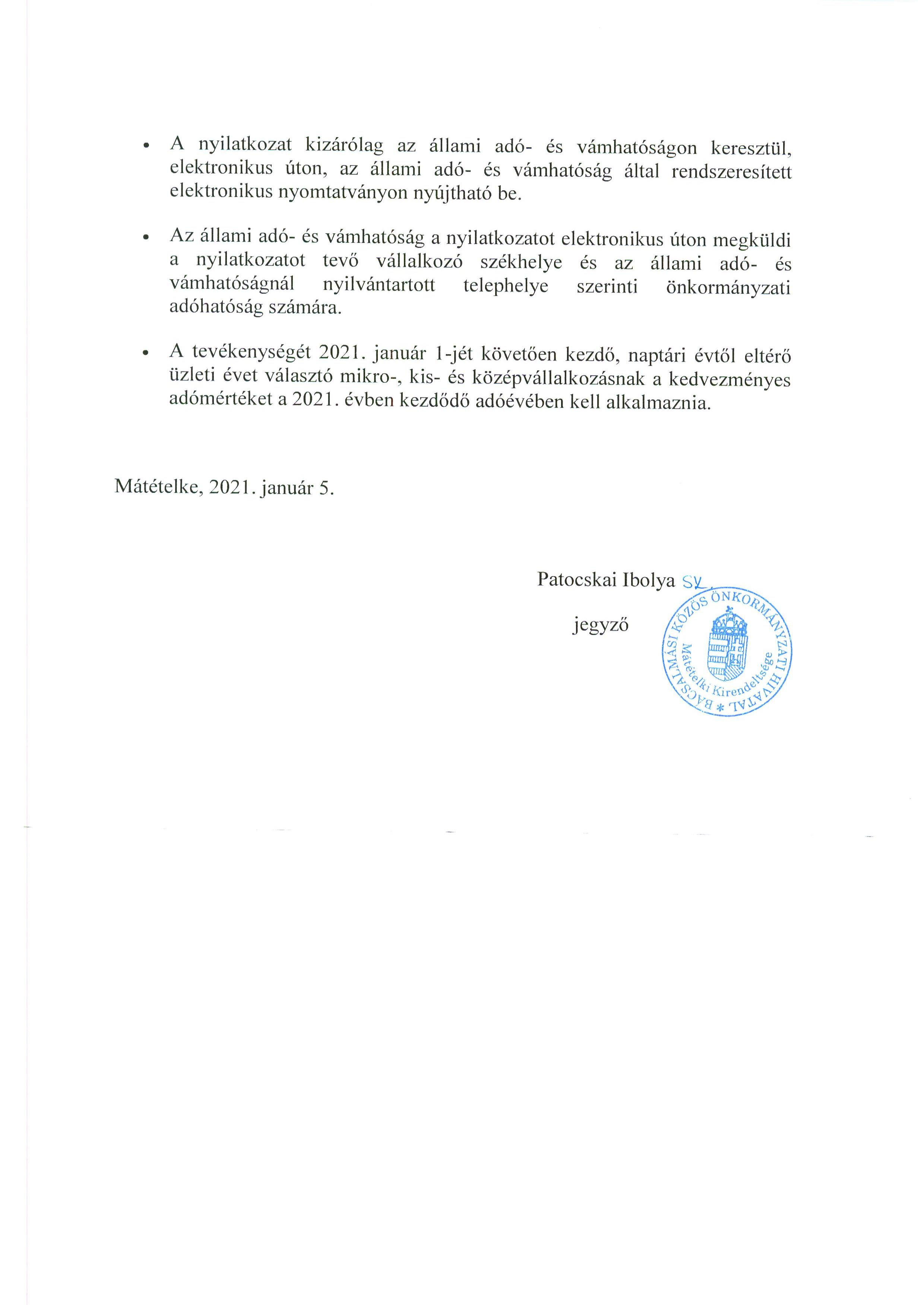 Tájékoztatás - HIPA.3