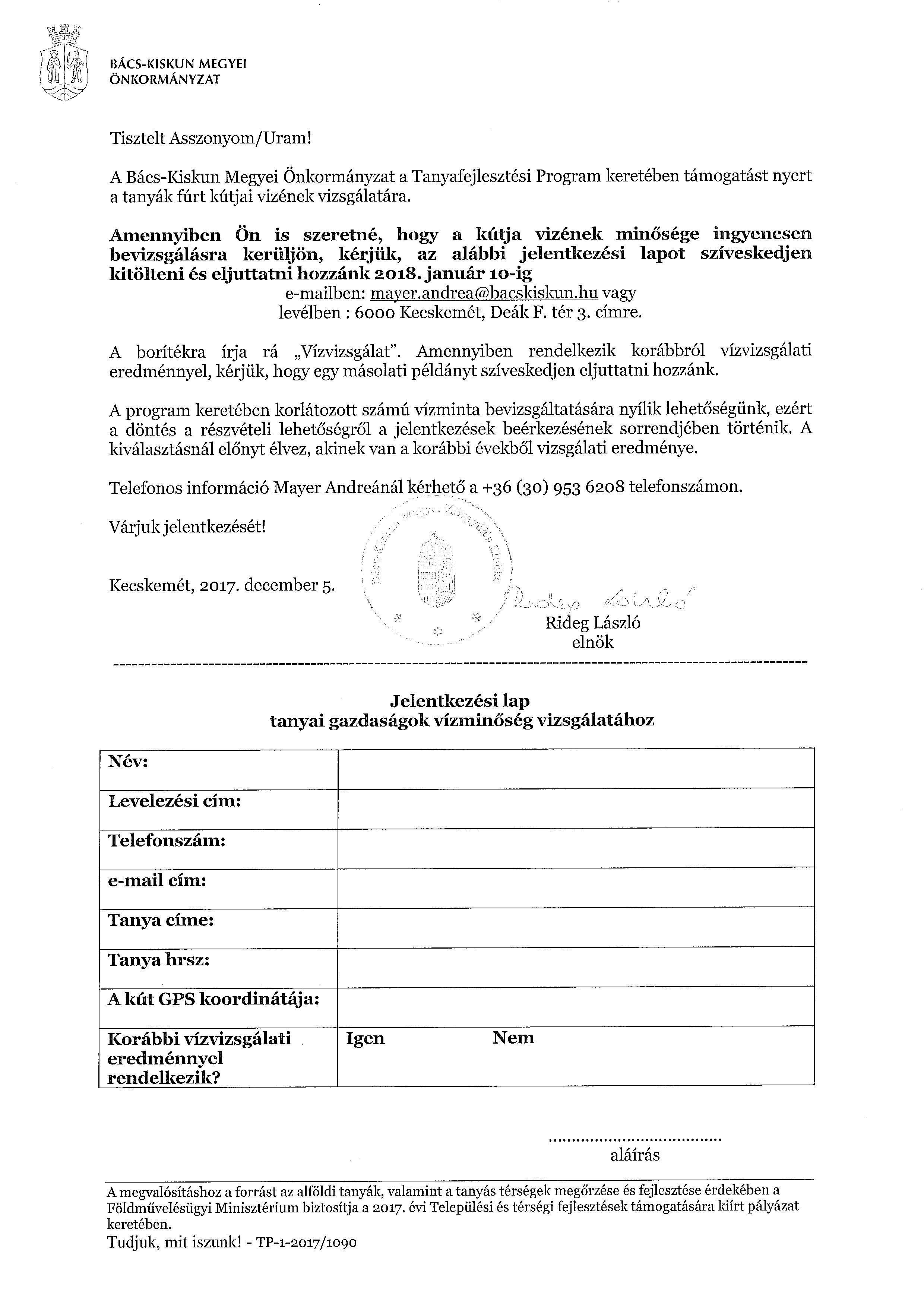 Jelentkezési lap - Tanyavíz vizsgálat-page-001