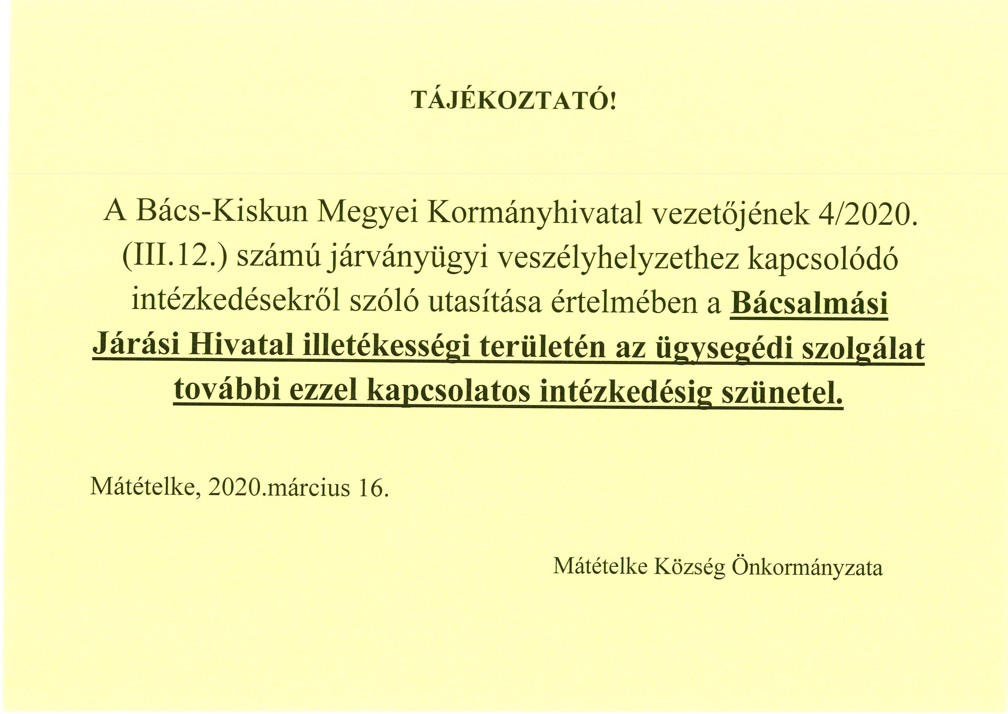 KORMÁNYHIVATAL TÁJÉKOZTATÁS.1