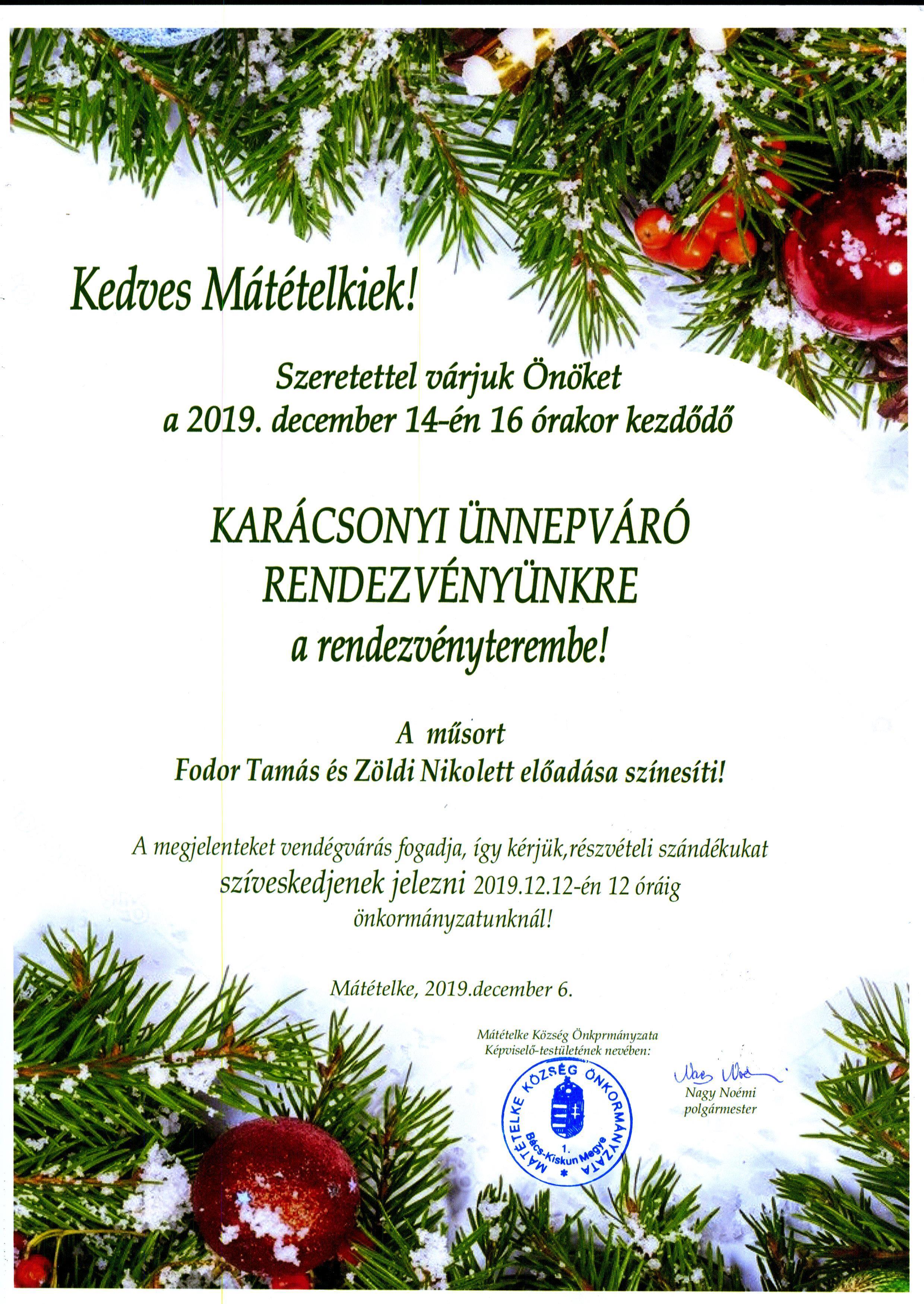 Karácsonyi Meghívó