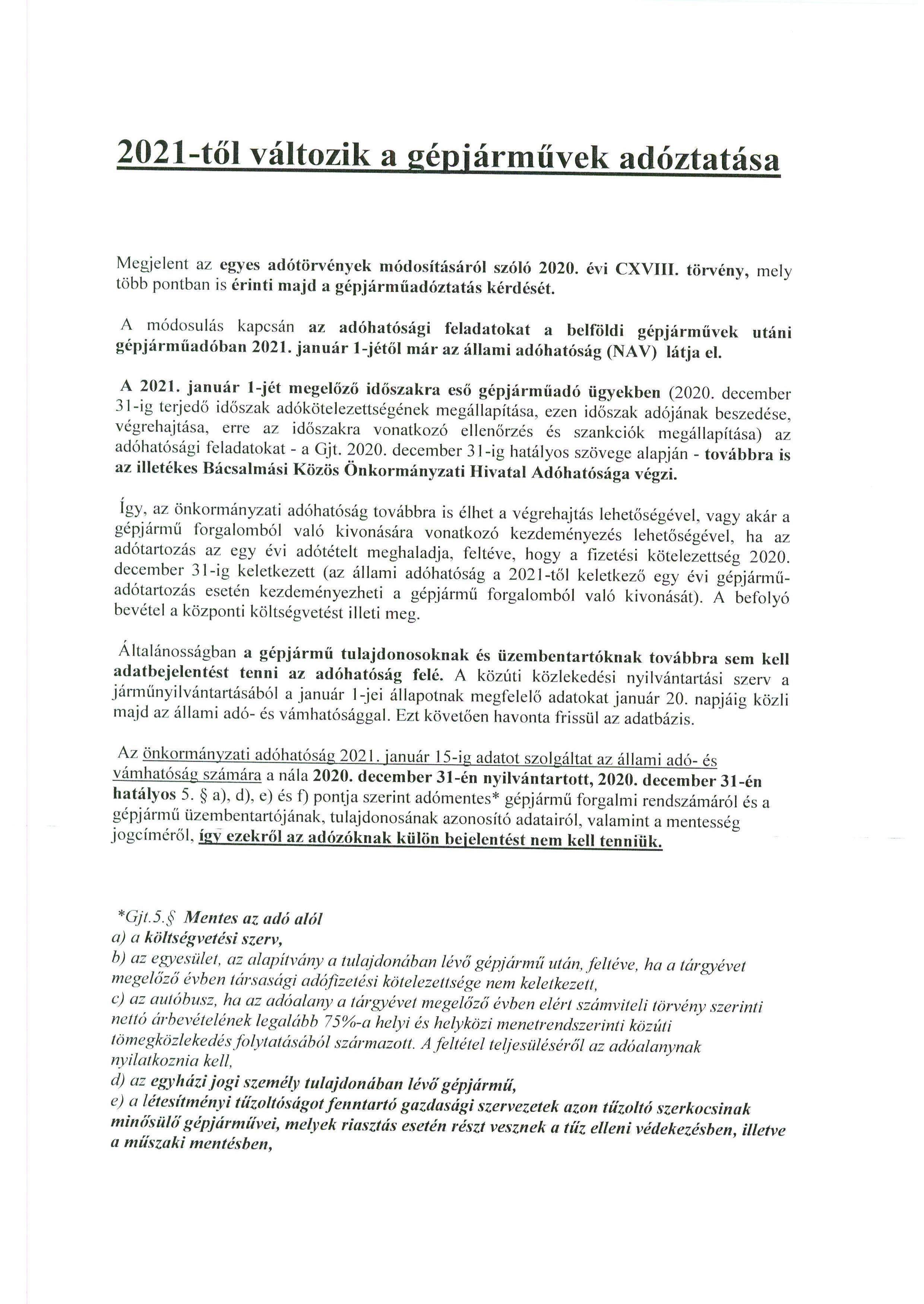 Tájékoztatás - Gépjárműadó.1