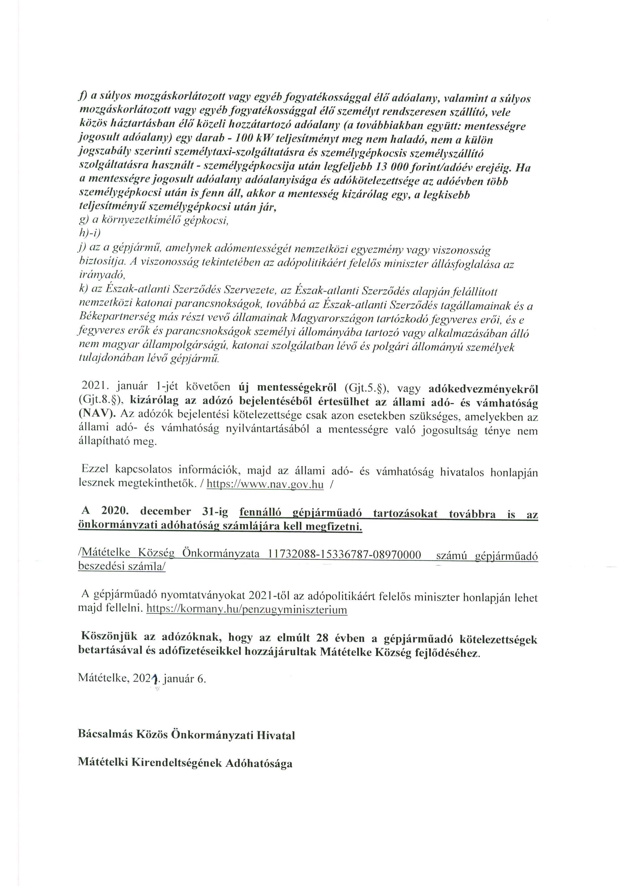 Tájékoztatás - Gépjárműadó.2
