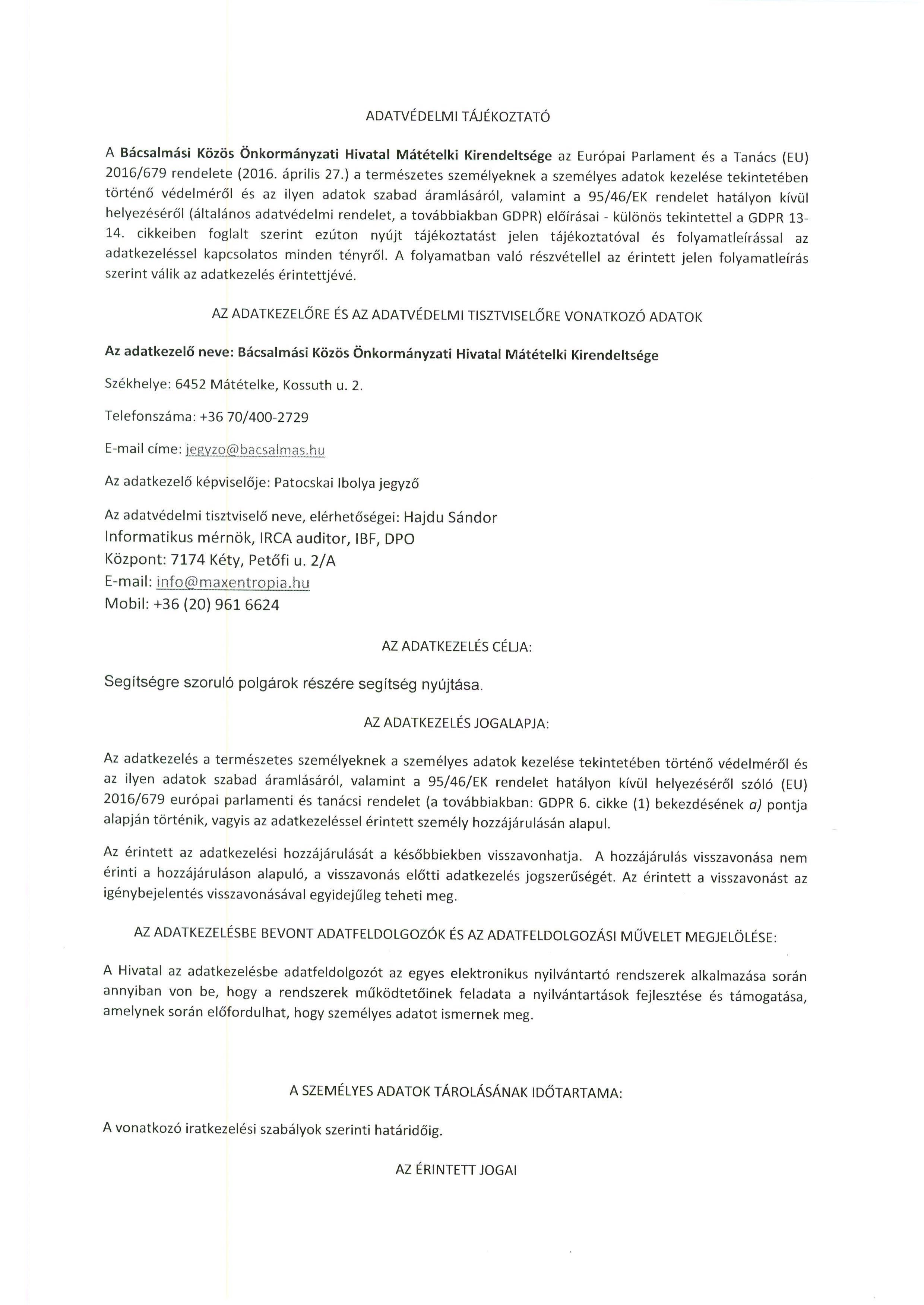 Tájékoztatás - Koronavírus járványra tekintettel.3