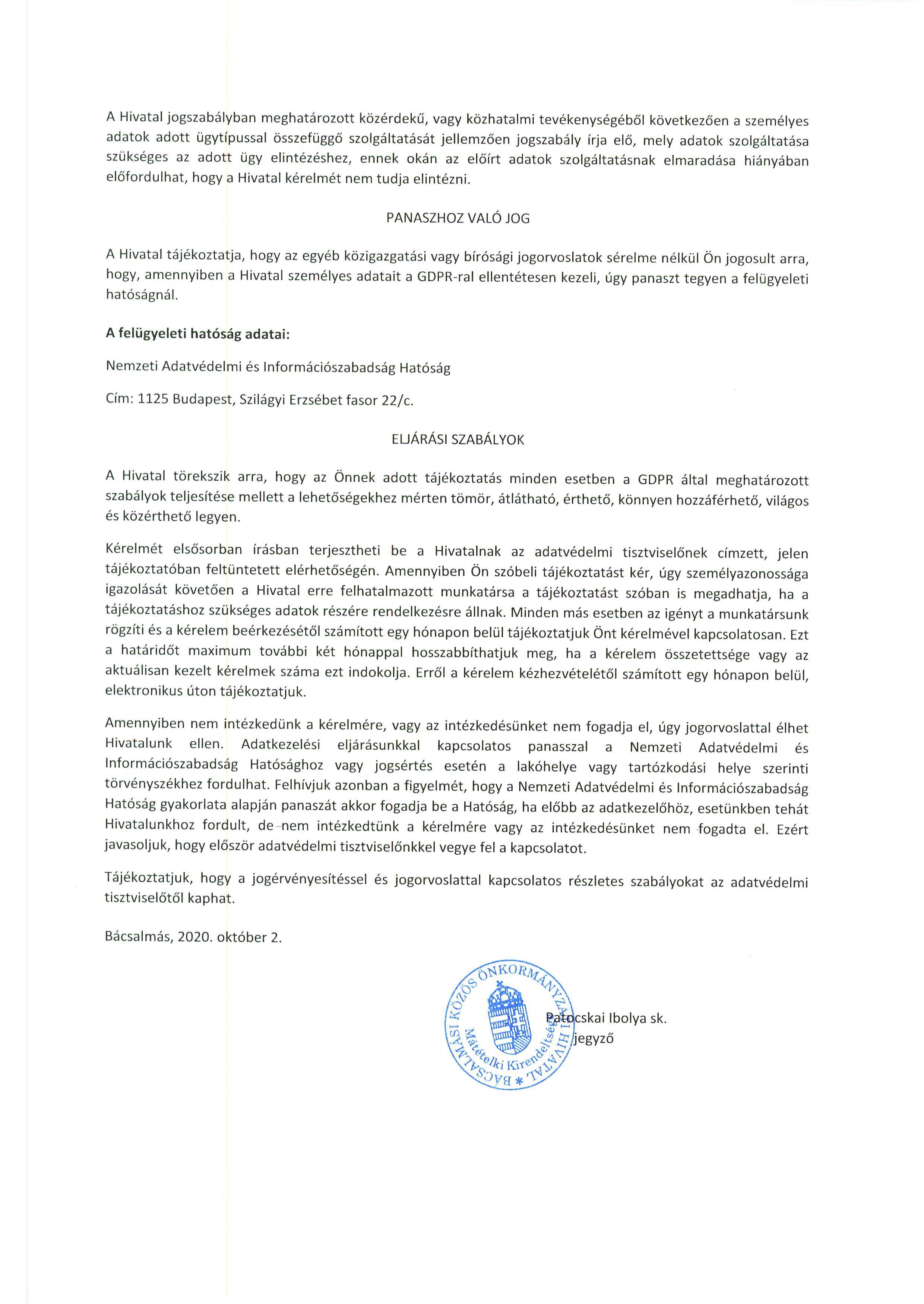 Tájékoztatás - Koronavírus járványra tekintettel.6